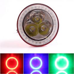 JCAA601 Motorrad Angel Eyes LED Scheinwerfer Einbau Laserkanonen