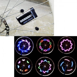 LED Motorcykel Bike Wheel Signal Flashing Spoke Lys med Batteri
