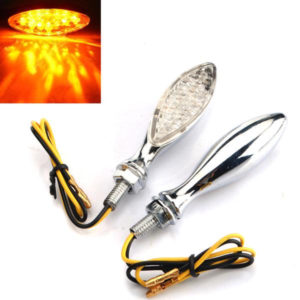 LED Motorcykel Turn Lampor Indikatorer Silver Motorcykel