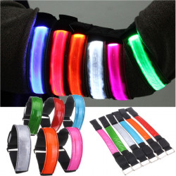 LED Reflective Arm Band Belt Strap Running Night Signal Safety Wrap