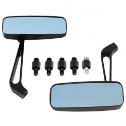 Modificeret Motorcykel Aluminatcement Bakspejl Blå Glass
