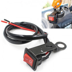 Motorcykel ATV Quad Bike Strålkastare On/Off Switch Rearview Spegel Wire