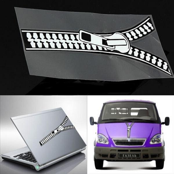 Motorcykel Auto Zipper Sticker Klistermærker Emblem Graphic Paster Decal Motorcykel / MC