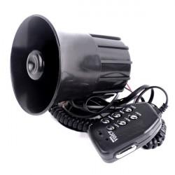 Motorcykel Bil 6 Sound Högtalare Hornhögtalare Alarm Med Mic