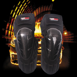 Motorcycle Carbon Fiber Racing Riding Knee Pads Armor Guards