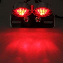 Motorcykel Cat Eye LED Broms Running Tail Turn Ljus