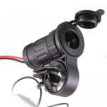 Motorcykel Cigarettändaruttaget Plug Adapter Styresmonteringen Motorcykel