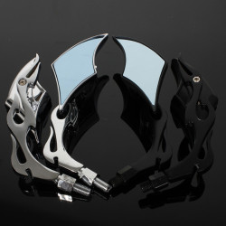 Motorcycle Diamond Style Chopper Rearview Side Mirrors