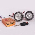 Motorcykel HIFI Audio Fjernbetjening Sound System Alarm Support SD USB MP3 FM Motorcykel / MC