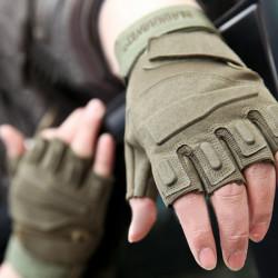 Motorcycle Half Finger Gloves Antiskid Military Sports Climbing