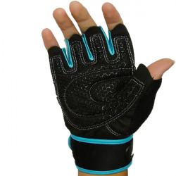 Motorrad halbe Finger Handschuhe verlängerte Handgelenk Fitness Handschuhe