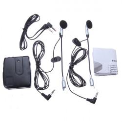 Motorrad Sturzhelm zu Helm Intercom Set 2 Headsets MP3 Eingang