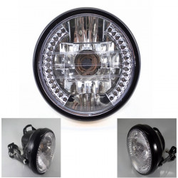 Motorcycle LED Angel Eye Headlight Turn Signal Light For Harley Cruise