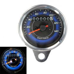 Motorrad LED Entfernungsmesser und Tachometer Meterspur 0 140Km / h
