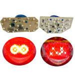 Motorcycle LED Taillights Brake Strobe Lights Butterfly Double Cycles For Yamaha RSZ Motorcycle