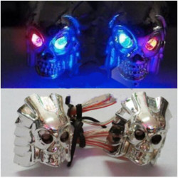 Motorcycle License Plate Decorative Screws Skull Ghost Head Lamp