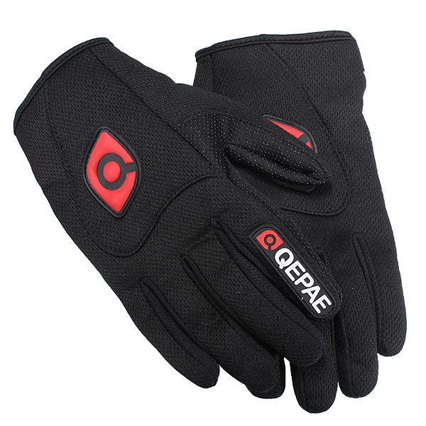 Motorcycle Motorbike Sports Full Finger Comfy Gloves Black Breathable Motorcycle