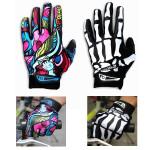 Motorcycle Racing Biker Full Finger Gloves Skeleton Skull Bone Motorcycle