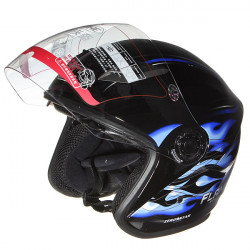 Motorcycle Racing Helmet Dual Lens Windproof Anti Glare Full Face