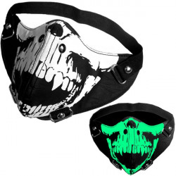 Motorcykel Riding Luminous Eller Ikke-Lysende Rock Skull Mask For Harley