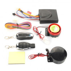 Motorcycle Scooter Double Speakers Anti-theft Security Remote Voice Alarm
