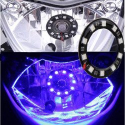 Motorcycle Scooter LED Headligth Angel Eyes Lamp