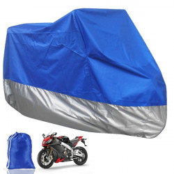 Motorcycle Scooter Waterproof Protective Rain Cover XL Blue