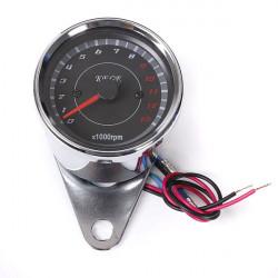 Motorcykel Speedometer Omdrejningstæller Kilometertæller Rev Counter 0-13.000 RPM
