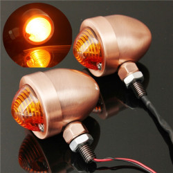 Motorcycle Turn Signal Lights Indicator Metal For Harley Yamaha Kawasa