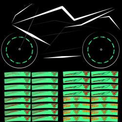 Motorcykel Hjul Däck Dekal Vattentät Reflekterande Rim Stripe