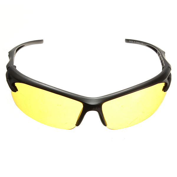 Night Vision UV 400 Driving Riding Glasses Sunglasses Yellow Lens Motorcycle