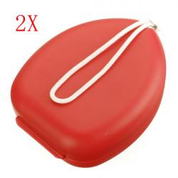 Orange Fickformat Första Hjälpen HLR Ansiktsmask Shield Andnings