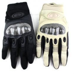 Racing Motorcykel Kolfiber PU Tactical Full Finger Handskar