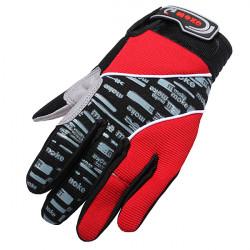 Red Motorcykel Motorbike Sport Gel Silikon Full Finger Warm Handskar