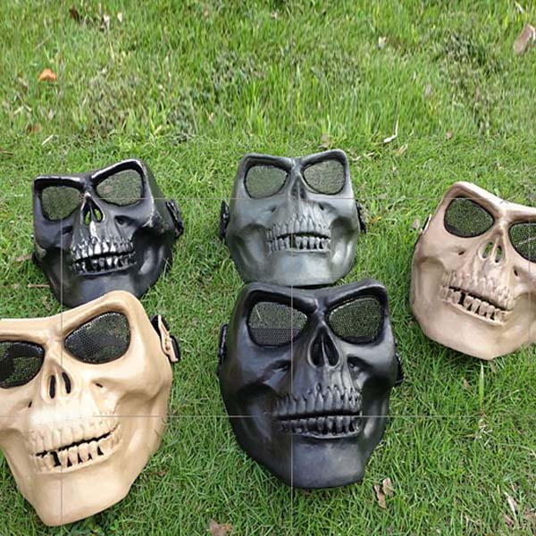 Skeleton Skull Face Mask Protective  Party Halloween ABS Masks Motorcycle