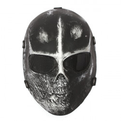 Skull Ansigtsmaske Airsoft Paintball Hunting Goggle Halloween