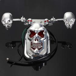 Schädel Motorrad ATV hinten Rücklicht Blinker Bremsplatte