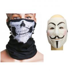 Snygg V Halloween Jul Masker & Skalle Multi Ansiktsmask Ansiktsskydd Munskydd Cap
