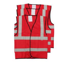 Traffic Security Vest Waistcoat Warning Reflective Stripes Vest