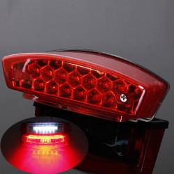 Universal 12V LED Motorcycle Tail Brake Light License Plate Lamp