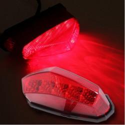 Universal LED Motorcykel Dirt Bike Plate Lamp Bakre Tail Bromsljus