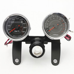 Universal LED Motorrad Tachometer + Kilometerzähler Spur
