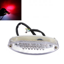 Universal Motorcycle Number Plate Light Rear Tail Lamp 12V 28 LED
