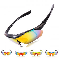 WOLFBIKE UV400 5 Lens Polarized Sports Sunglasses Eyewear Goggle