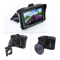 Waterproof 4.3Inch Vehicle GPS Navigation Multifunctional Multilingual