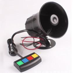 Waterproof 4 Sounds Car Motorcycle Loudspeaker Horn Alarm Tweeter