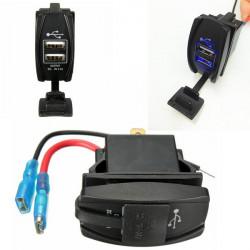 Wasserdicht DC12 24V Motorrad Dual USB Power Charger Sockel