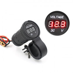 Waterproof Motorcycle Automobile Digital LED Display Voltmeter