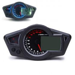 Vattentät Universell Motorcykel LCD Digital Vägmätare Hastighetsmätare