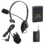 Trådlöst Clip-on MIC Mini Mikrofon Sändare Headset KM209 Motorcykel